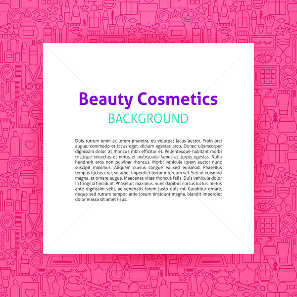 Beauty Cosmetics Paper Template Stock photo © Anna_leni