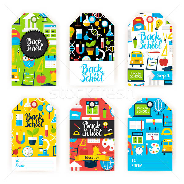 Back to School Gift Label Set Stock photo © Anna_leni