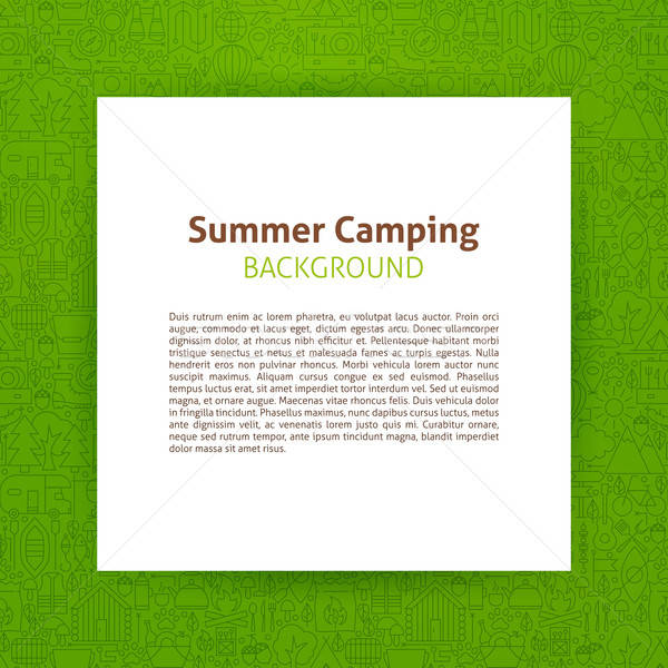 Summer Camp Paper Template Stock photo © Anna_leni