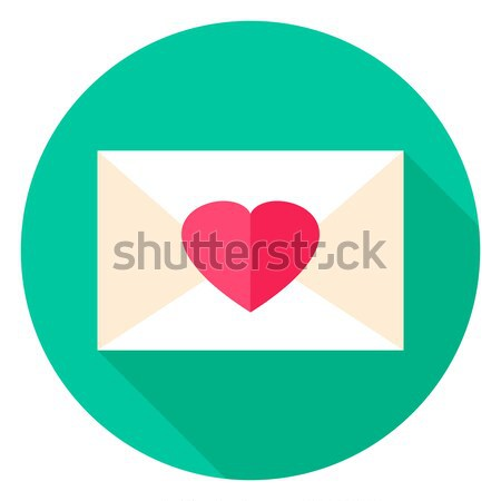 Love Envelope Circle Icon Stock photo © Anna_leni
