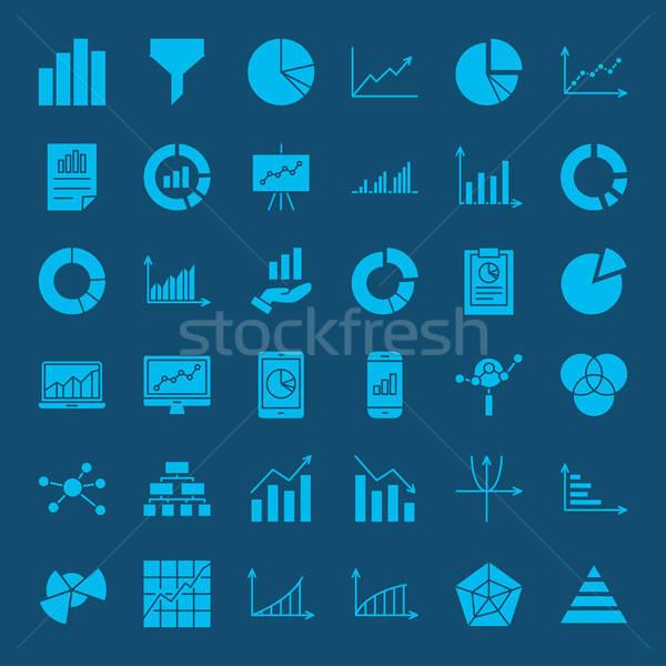 Diagrama iconos de la web vector establecer negocios símbolos Foto stock © Anna_leni
