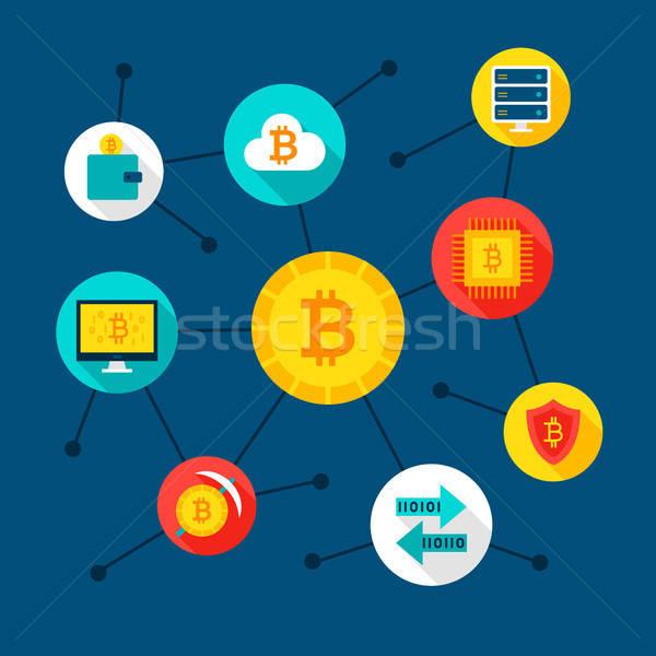 Bitcoin Digital Concept Stock photo © Anna_leni