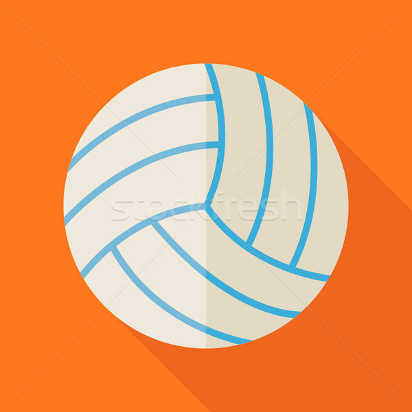 Flat Sports Ball Volleyball Illustration with Long Shadow Stock photo © Anna_leni