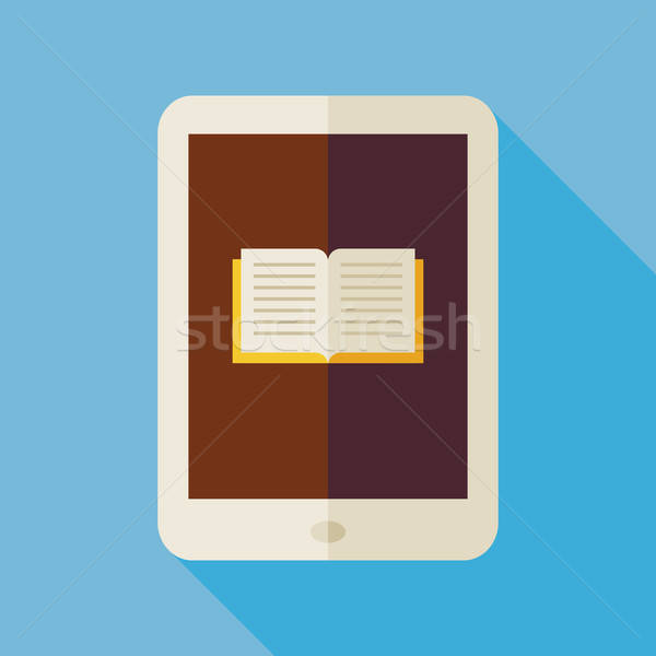 Flat Electronic Book Illustration with long Shadow Stock photo © Anna_leni