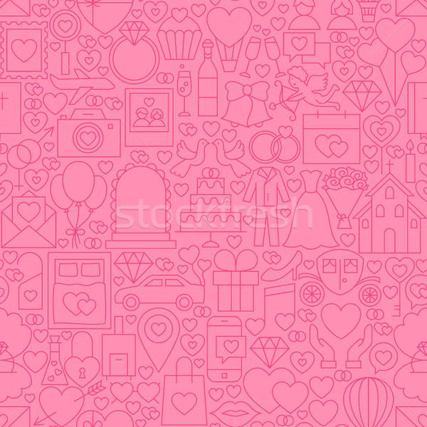 Wedding Pink Line Tile Pattern Stock photo © Anna_leni