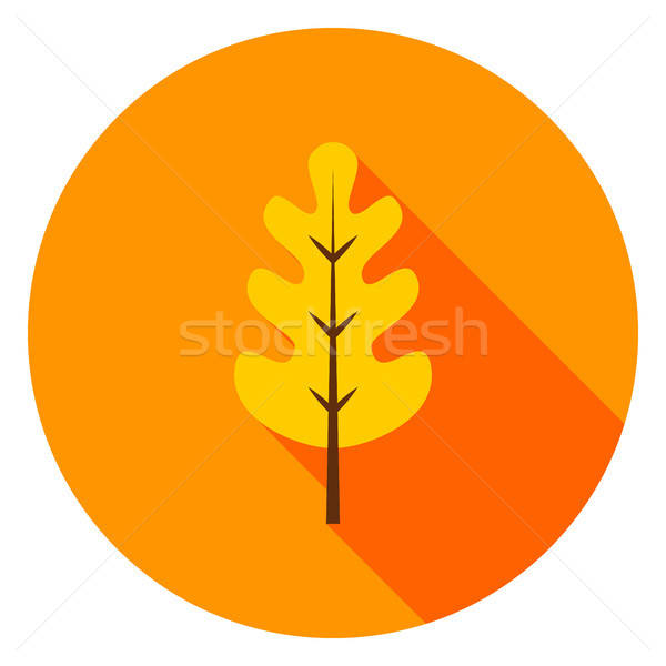 Oak Leaf Circle Icon Stock photo © Anna_leni