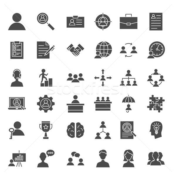 Human Resources Solid Web Icons Stock photo © Anna_leni