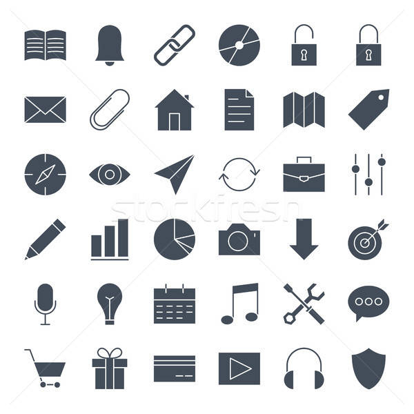 User Interface Solid Web Icons Stock photo © Anna_leni
