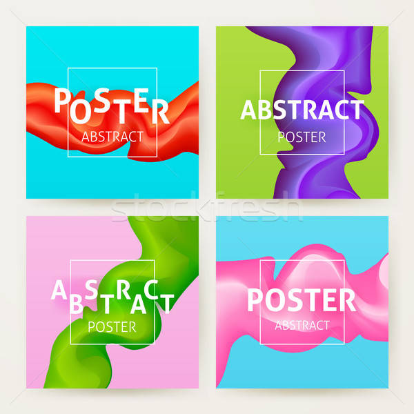Colorful Abstract Poster Set Stock photo © Anna_leni