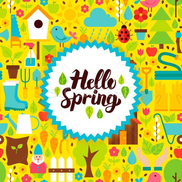ハロー 春 はがき 自然 庭園 ポスター ストックフォト © Anna_leni