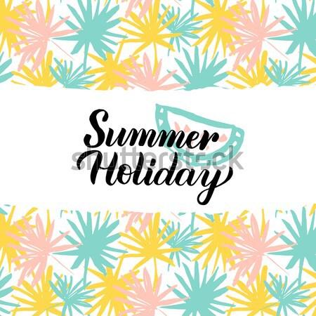 Enjoy Summer Handwritten Card Stock photo © Anna_leni