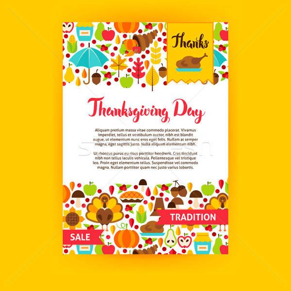 Thanksgiving Day Poster Stock photo © Anna_leni