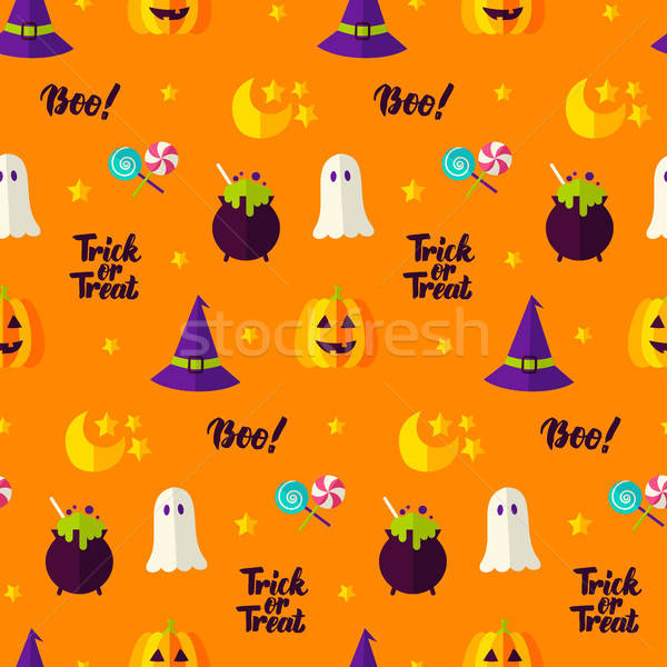 Trick or Treat Seamless Pattern Stock photo © Anna_leni