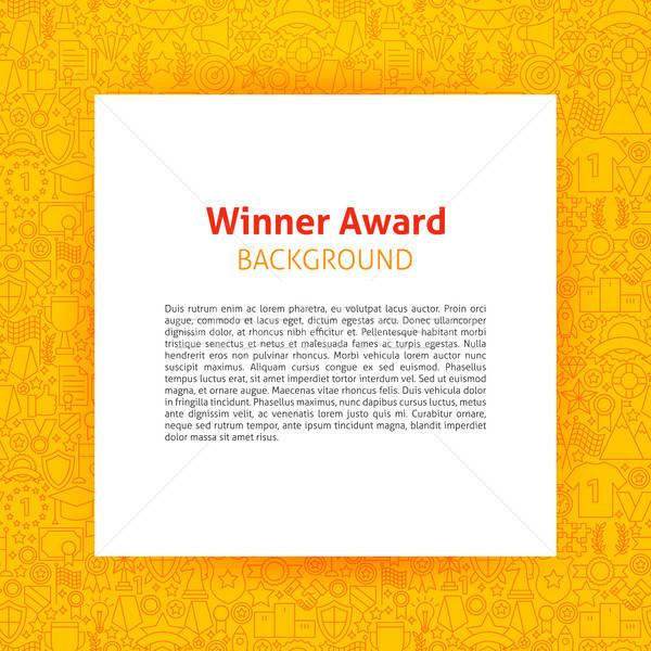 победителем награда бумаги шаблон дизайна Сток-фото © Anna_leni