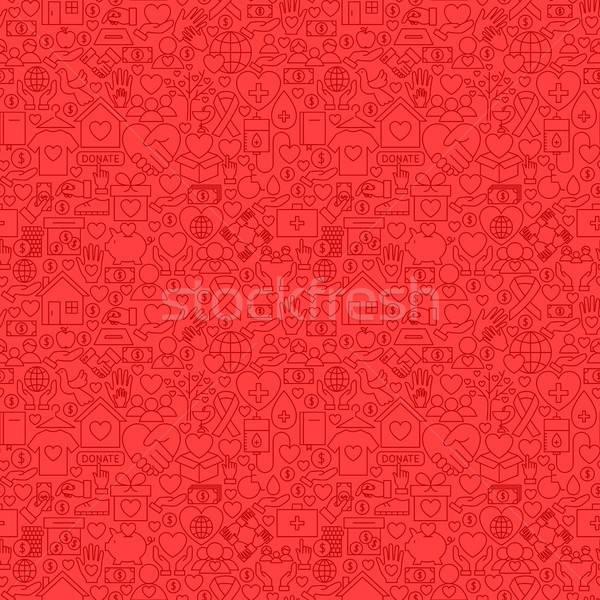チャリティー 赤 行 お金 ストックフォト © Anna_leni