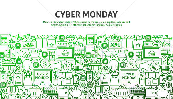 Cyber Monday Concept Stock photo © Anna_leni