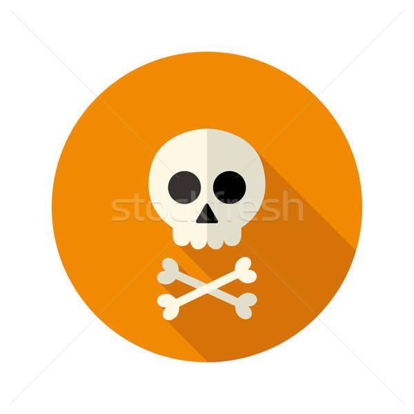 Halloween schedel cirkel icon dood dode Stockfoto © Anna_leni