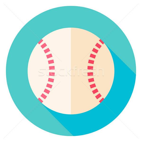 Baseball piłka kółko ikona projektu długo Zdjęcia stock © Anna_leni