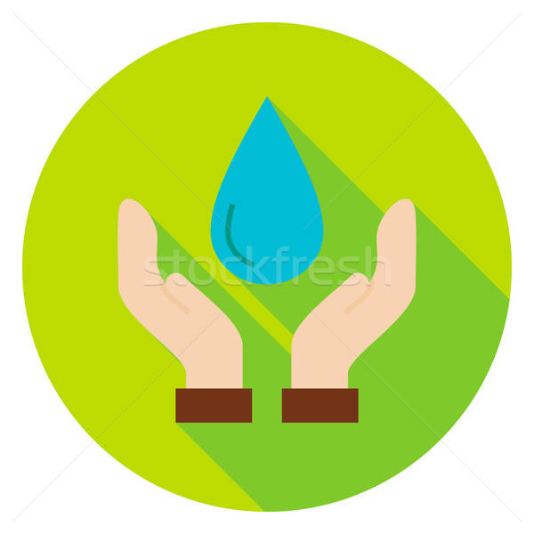 Hands Save the Planet Water Circle Icon Stock photo © Anna_leni
