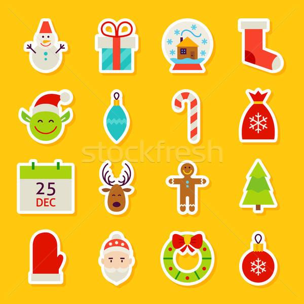 Happy New Year Stickers Stock photo © Anna_leni