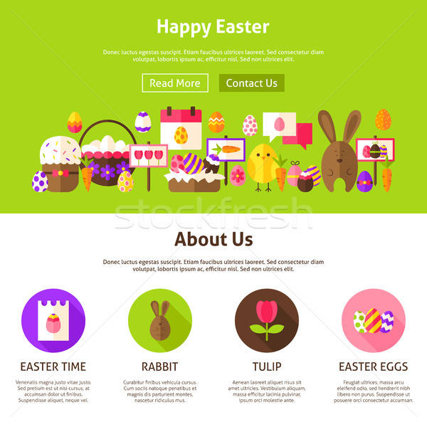 Happy Easter Website Design Stock photo © Anna_leni