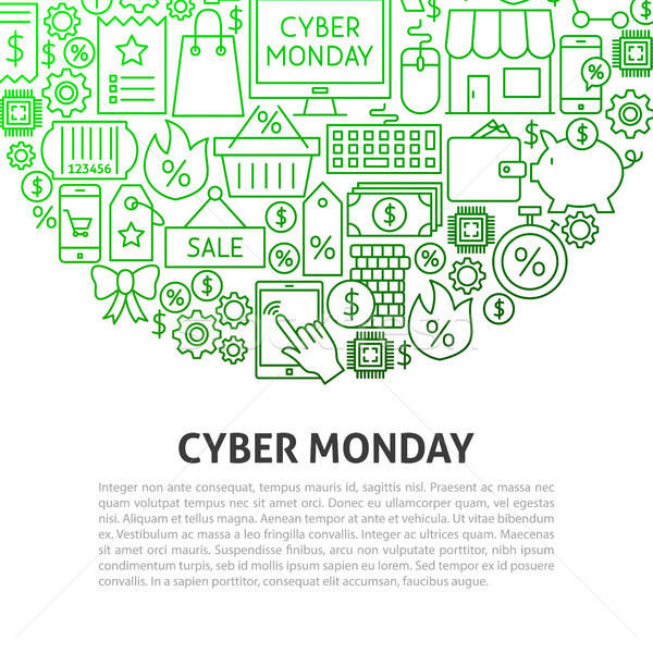 Cyber Monday Line Concept Stock photo © Anna_leni