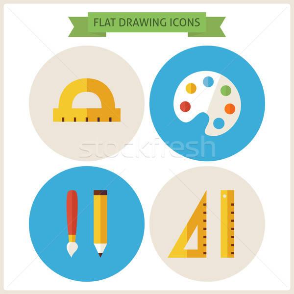 Dibujo sitio web círculo iconos web Foto stock © Anna_leni