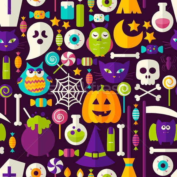 Scary Хэллоуин бесшовный праздник стиль плитка Сток-фото © Anna_leni