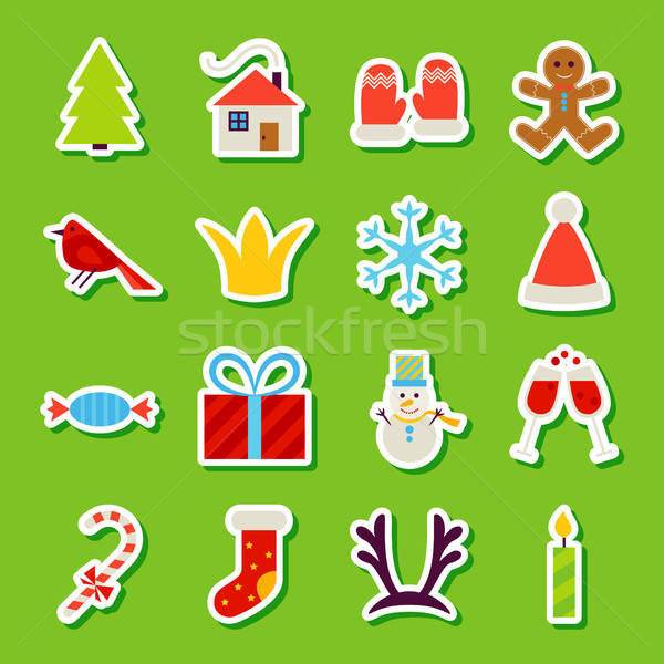 New Year Stickers Stock photo © Anna_leni