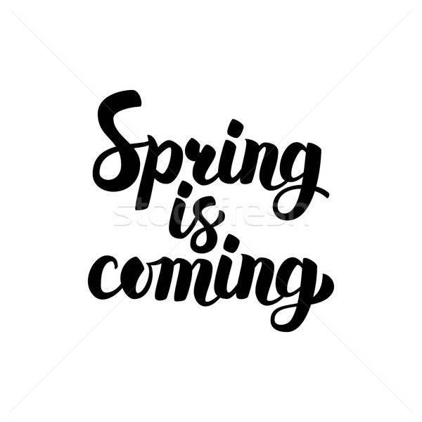 Spring is Coming Lettering Stock photo © Anna_leni
