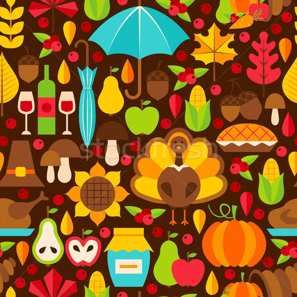 Thanksgiving Holiday Seamless Pattern Stock photo © Anna_leni