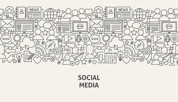 Stock photo: Social Media Banner Concept