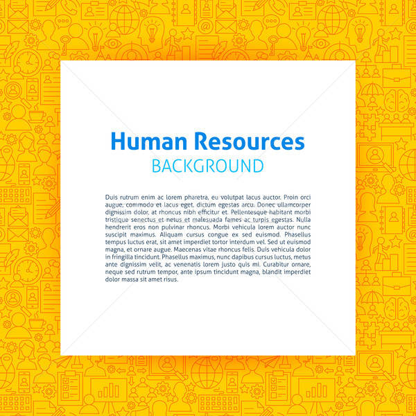 Human Resources Paper Template Stock photo © Anna_leni