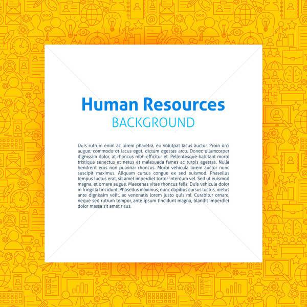Umani risorse carta modello contorno design Foto d'archivio © Anna_leni