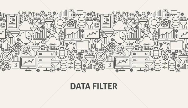 Dati filtrare banner line web design design Foto d'archivio © Anna_leni