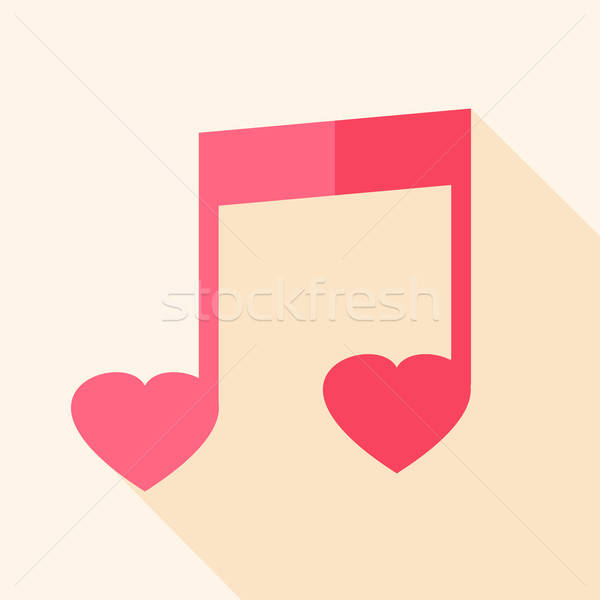 Heart shaped sheet music Stock photo © Anna_leni