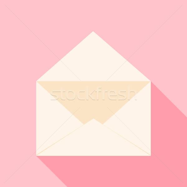 Open envelope over light pink Stock photo © Anna_leni