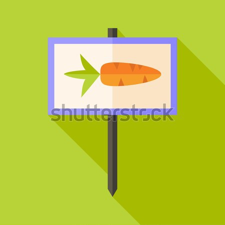Garden Carrot Vegetable Sign Circle Icon Stock photo © Anna_leni