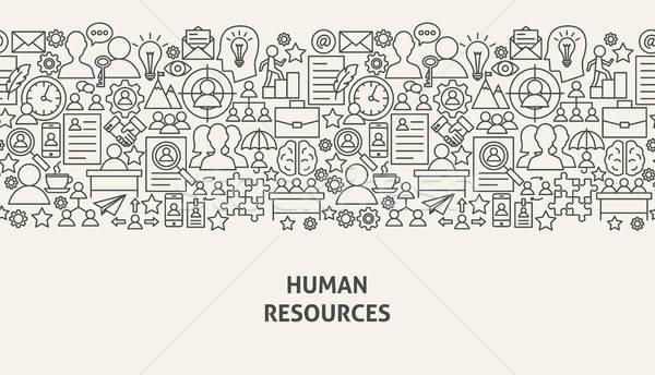 Umani risorse banner line web design gestione Foto d'archivio © Anna_leni