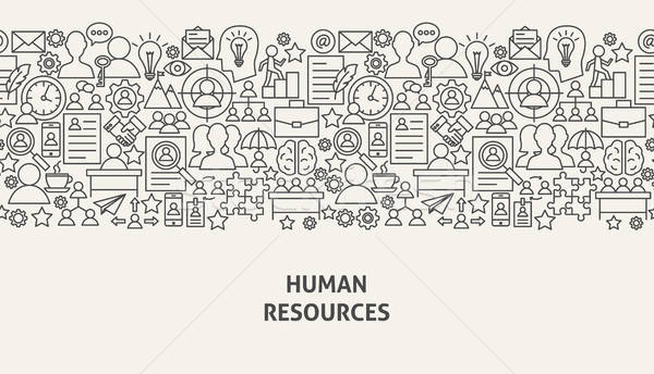 Human Resources Banner Concept Stock photo © Anna_leni