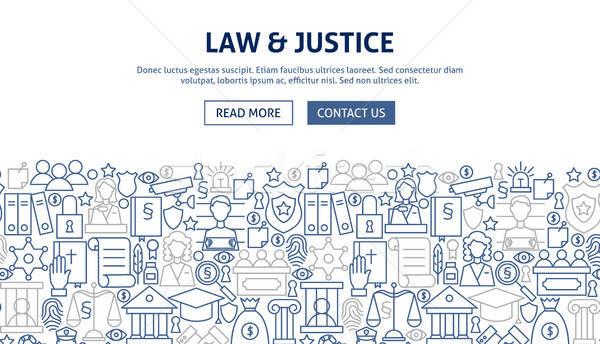 Law Justice Banner Design Stock photo © Anna_leni