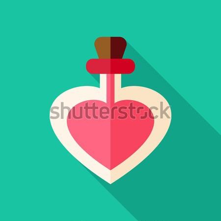 Szeretet üveg szív alak stilizált tárgy hosszú Stock fotó © Anna_leni