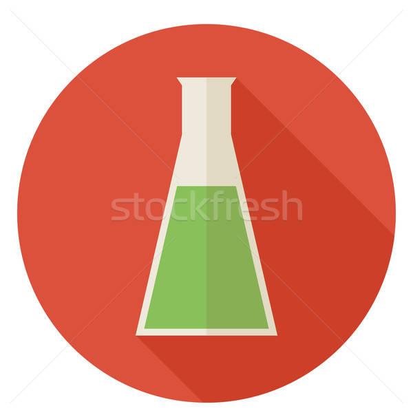 Wetenschap onderwijs chemie lamp cirkel icon Stockfoto © Anna_leni