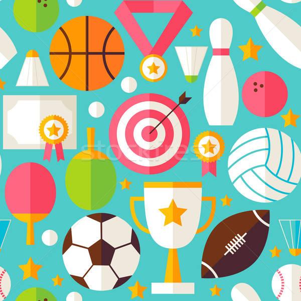 スポーツ 競争 ベクトル デザイン 青 ストックフォト © Anna_leni