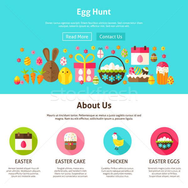 Web design ei jacht stijl website banner Stockfoto © Anna_leni