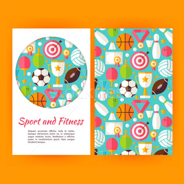 Vector Sport and Fitness Banners Set Template Stock photo © Anna_leni