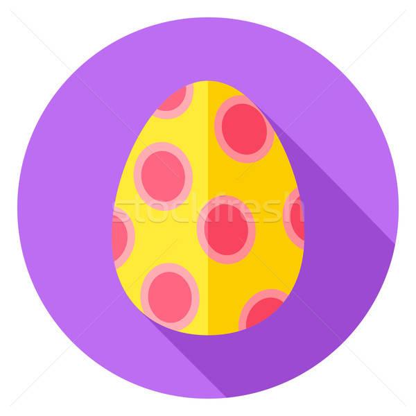 Easter Egg with Big Circles Decor Circle Icon Stock photo © Anna_leni