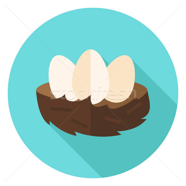 Nest with Eggs Circle Icon Stock photo © Anna_leni