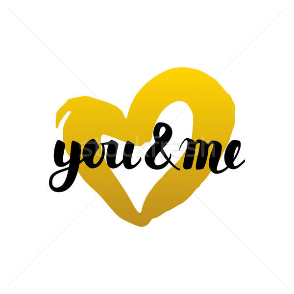You and Me Handwritten Lettering Stock photo © Anna_leni