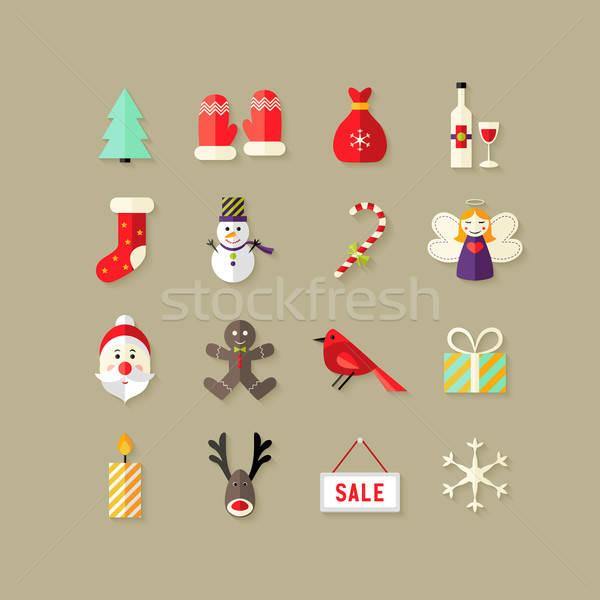 クリスマス 実例 天使 ボックス キャンドル ストックフォト © Anna_leni